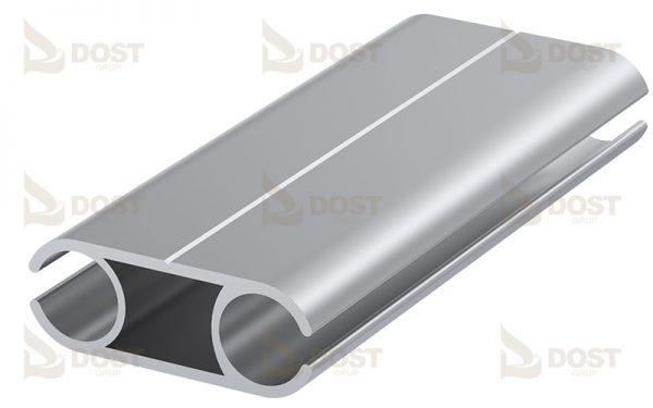 Keder Double Side Type 12 Aluminium 0.60 kg/m