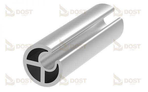 Round Profile Type F Aluminium 1.07 kg/m