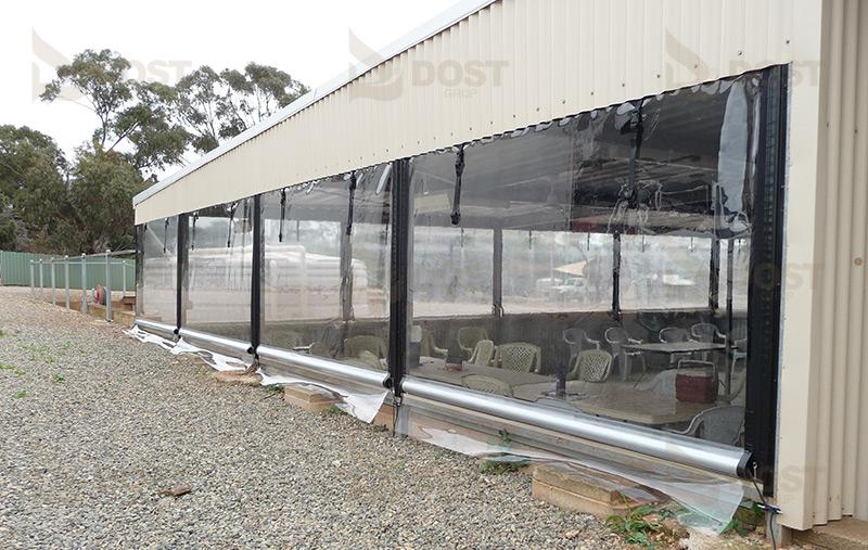 Şeffaf Tente Kapama PVC - Dost Teknik